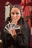 şaşırmış kadın falcı — Stok fotoğraf
