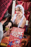 Customer with Fortune Teller — Stock Photo