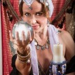 Grinning Fortune Teller — Stock Photo