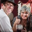 Stock Photo: Happy Customer and Fortune Teller