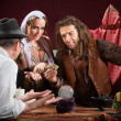 Stock Photo: Fortune Teller Scam
