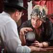 Fortune Teller with Crystal Ball — Stock Photo