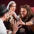 Stock Photo: Aggressive Fortune Tellers