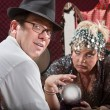 Stock Photo: Businessmwith Fortune Teller
