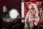 Startled Fortune Teller — Foto Stock