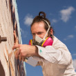 Aerosol Artist Painting — Stock Photo #27656619
