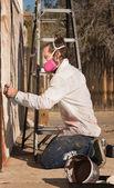 Adult Graffiti Artist — Stock Photo