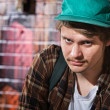 Stock Photo: Suspicious Male with Hat