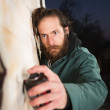 Stock Photo: Mwith Beard Spray Painting
