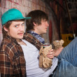 Drunk Young Men — Stock Photo