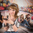 Pretty Girl Texting — Foto Stock