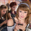 Grinning Teen with Cellphone — Stock Photo