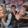 Cheerful Female Teenager — Stock Photo