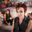 Group Young Women in Alley — Stock Photo