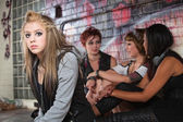 Depressed Teen with Friends — Stock Photo