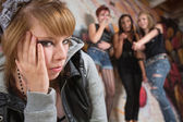 Group Teasing Teenager — Stock Photo