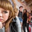 Sad Girl Being Bullied — Stock Photo