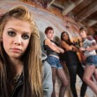 Gang Intimidating Girl — Stok Fotoğraf #28675177