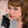 Skeptical Young Woman — Stock Photo