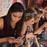 Mixed Group Texting — Stock Photo #28675213