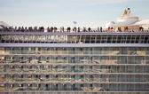 Cruise ship balconies — Stock Photo