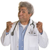 Doctor with Clenched Fists — Stockfoto