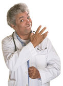 Threatening Doctor — Stock Photo