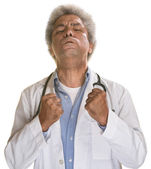 Médico tenso — Foto Stock