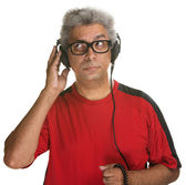 Curious Man Listening — Stock Photo