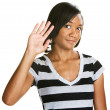 Cute Teen Waving — Stock Photo #30085655