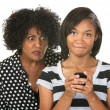 Stockfoto: Parent Eavesdropping Teen Girl