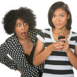 Shocked Mother and Texting Teenager — Stok Fotoğraf #30085743