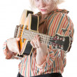 Lady Aims a Guitar — Stock Photo #30085767