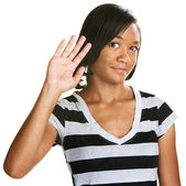 Cute Teen Waving — Stock Photo
