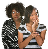 Overprotective Mother with Teen — Stock Photo