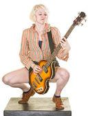 Guitarrista grave — Foto Stock