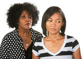 Sad Mother and Daughter — Stock Photo