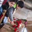 Unidentified boys at Ataturk Tomb — Stock Photo