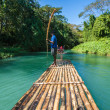 Stock Photo: Bamboo River Tourism in Jamaica