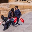 Three unidentified boys at the Antkabir in Ankara, Turkey — Stock Photo