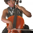 Woman Playing a Cello — Stock Photo