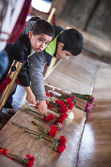 Unidentified boys at Ataturk Tomb — Foto Stock