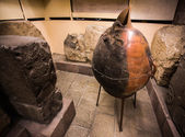 Ancient Pot and Stone reliefs — Stock Photo