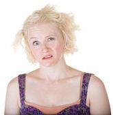 Crazy Blond Lady — Stock Photo