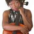 Pensive Cello Performer — Stock Photo