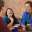Laughing Coffee House Customers — Stockfoto