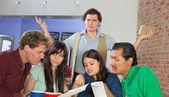 Customers Reading a Menu — Foto de Stock