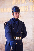 Unidentified Guard at Mausoleum of Ataturk — Stock Photo