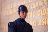 Unidentified Guard at Mausoleum of Ataturk — Stockfoto