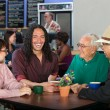 Diverse Men in Cafe — Stockfoto #32075415